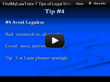 FindMyLawTutor 7 Tips of Legal Writing with Stacey Montgomery