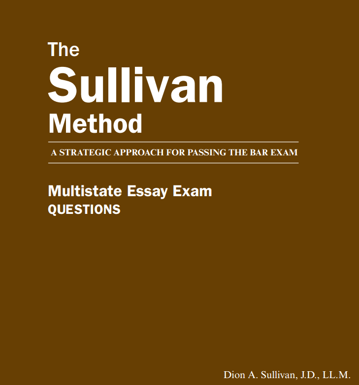Multistate Essay Exam Book